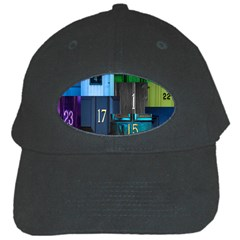 Door Number Pattern Black Cap