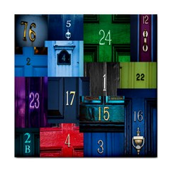 Door Number Pattern Tile Coasters