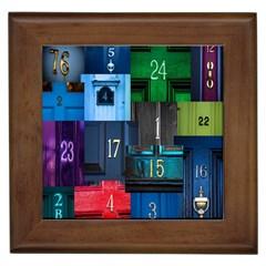 Door Number Pattern Framed Tiles