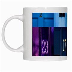 Door Number Pattern White Mugs