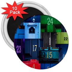 Door Number Pattern 3  Magnets (10 Pack)