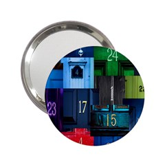 Door Number Pattern 2 25  Handbag Mirrors
