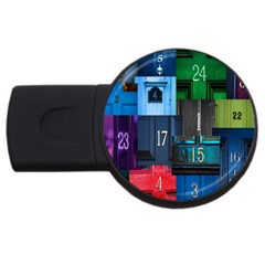 Door Number Pattern Usb Flash Drive Round (2 Gb)