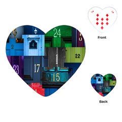 Door Number Pattern Playing Cards (heart)