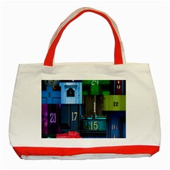 Door Number Pattern Classic Tote Bag (red)