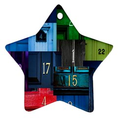 Door Number Pattern Star Ornament (two Sides)