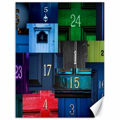 Door Number Pattern Canvas 18  x 24