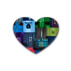 Door Number Pattern Heart Coaster (4 Pack)
