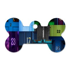 Door Number Pattern Dog Tag Bone (one Side)