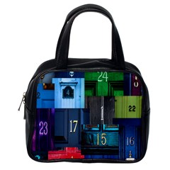 Door Number Pattern Classic Handbags (one Side)