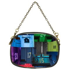 Door Number Pattern Chain Purses (two Sides)