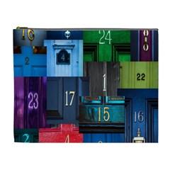 Door Number Pattern Cosmetic Bag (xl)