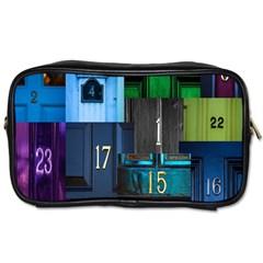 Door Number Pattern Toiletries Bags 2 Side