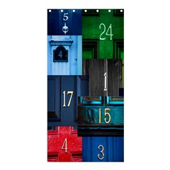 Door Number Pattern Shower Curtain 36  X 72  (stall)