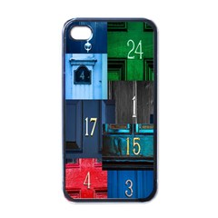 Door Number Pattern Apple Iphone 4 Case (black)