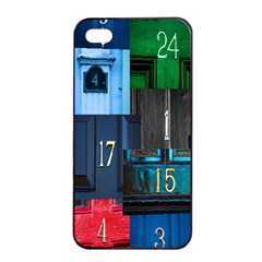 Door Number Pattern Apple Iphone 4/4s Seamless Case (black)
