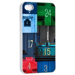 Door Number Pattern Apple Iphone 4/4s Seamless Case (white)
