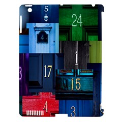 Door Number Pattern Apple Ipad 3/4 Hardshell Case (compatible With Smart Cover)