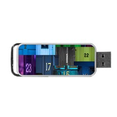 Door Number Pattern Portable Usb Flash (one Side)