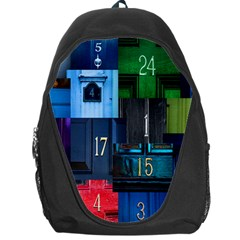 Door Number Pattern Backpack Bag