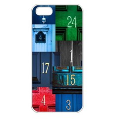 Door Number Pattern Apple Iphone 5 Seamless Case (white)