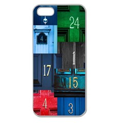 Door Number Pattern Apple Seamless Iphone 5 Case (clear)