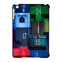 Door Number Pattern Apple Ipad Mini Hardshell Case (compatible With Smart Cover)