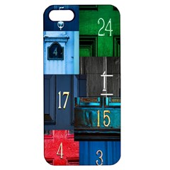 Door Number Pattern Apple Iphone 5 Hardshell Case With Stand