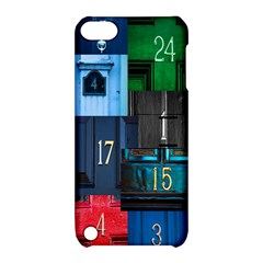Door Number Pattern Apple Ipod Touch 5 Hardshell Case With Stand