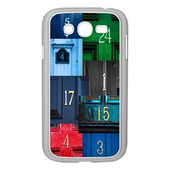 Door Number Pattern Samsung Galaxy Grand Duos I9082 Case (white)