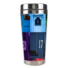 Door Number Pattern Stainless Steel Travel Tumblers