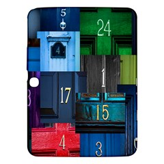 Door Number Pattern Samsung Galaxy Tab 3 (10 1 ) P5200 Hardshell Case