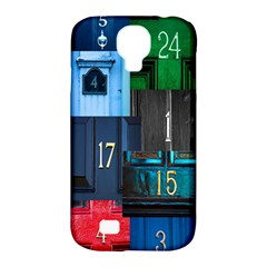 Door Number Pattern Samsung Galaxy S4 Classic Hardshell Case (PC+Silicone)