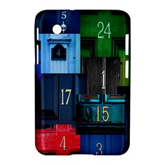 Door Number Pattern Samsung Galaxy Tab 2 (7 ) P3100 Hardshell Case