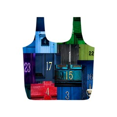 Door Number Pattern Full Print Recycle Bags (S)