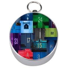 Door Number Pattern Silver Compasses