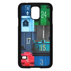 Door Number Pattern Samsung Galaxy S5 Case (black)