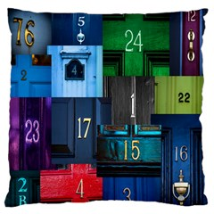 Door Number Pattern Standard Flano Cushion Case (One Side)