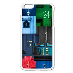 Door Number Pattern Apple Iphone 6 Plus/6s Plus Enamel White Case