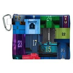 Door Number Pattern Canvas Cosmetic Bag (XXL)