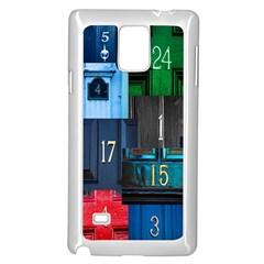 Door Number Pattern Samsung Galaxy Note 4 Case (white)