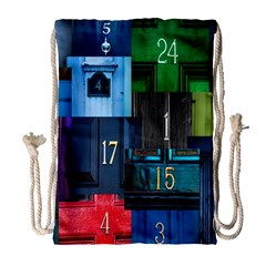 Door Number Pattern Drawstring Bag (large)