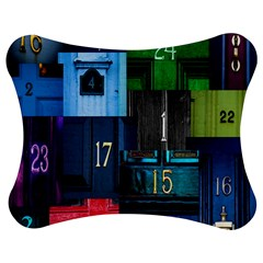 Door Number Pattern Jigsaw Puzzle Photo Stand (bow)