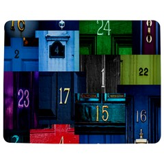Door Number Pattern Jigsaw Puzzle Photo Stand (rectangular)