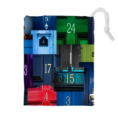 Door Number Pattern Drawstring Pouches (Extra Large)