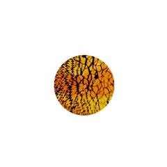 Yellow Chevron Zigzag Pattern 1  Mini Buttons