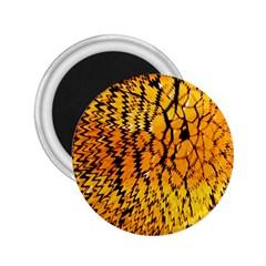 Yellow Chevron Zigzag Pattern 2 25  Magnets