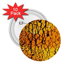 Yellow Chevron Zigzag Pattern 2 25  Buttons (10 Pack)