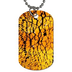 Yellow Chevron Zigzag Pattern Dog Tag (two Sides)
