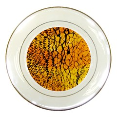 Yellow Chevron Zigzag Pattern Porcelain Plates